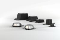 Die Schwingungsdämpfer der ACE Stoßdämpfer GmbH mit dem Produktnamen Compression Mounts sind Hochleistungslager, die bei einer Eigenfrequenz von 4,5 Hz bis 17,3 Hz einen Belastungsbereich von 6,3 kg bis 2.053 kg abdecken / Bildnachweis: ACE Stoßdämpfer GmbH