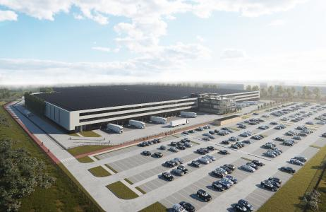 The logistics area at SHOP APOTHEKE EUROPE will be doubled to 40,000 m² with the new building in Sevenum near Venlo. The core is the new, state-of-the art logistics center © Shop Apotheke Europe