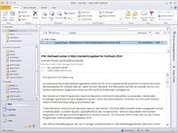 E-Mail-Darstellungstest für Outlook 2010 in Inxmail Professional