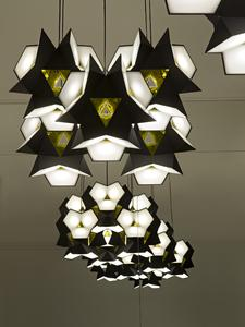 A Starbrick installation by Olafur Eliasson in a historical setting, the Ludoteca on Via Garibaldi. Some 30 Starbrick modules will be assembled in a variety of configurations.