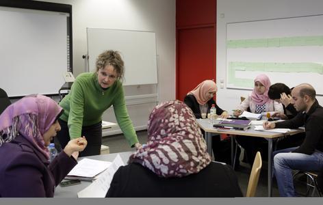 Jungen Flüchtlingen den Zugang zur deutschen Sprache zu erleichtern - das ist das Ziel eines gemeinsamen Projekts von Freudenberg und dem Goethe-Institut (Bildquelle: Goethe-Institut)