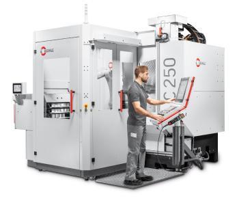 Bearbeitungszentrum C 250 mit Robotersystem RS 05-2