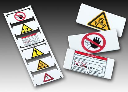 Weidmüller's 'PrintJet PRO': Markers printed in colour ensure precise recognition of warning notices, and unambiguously warn maintenance personnel of hazards
