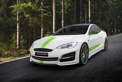 MANSORY drives green - weight reduced sports outfit for TESLA MODEL S