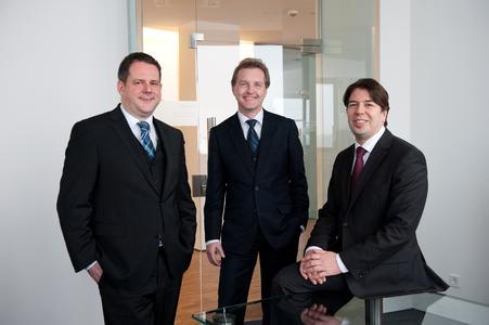 Vorstand der noris network AG (v. l.: Joachim Astel, Hansjochen Klenk, Ingo Kraupa), Bildquelle: noris network