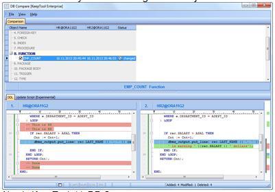 Neu in KeepTool 11: DB Compare
