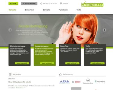 Die neue askallo-Webseite führt schnell zum Ziel