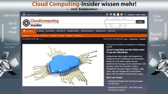 """Screenshot des neuen Insider-Portals """"CloudComputing-Insider.de"""""""