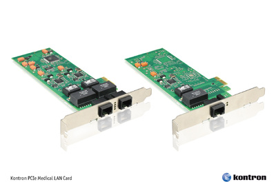 IEC60601-1 Compliant Kontron PCIe Medical LAN Card