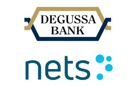 Logos von Nets Group und Degussa Bank AG