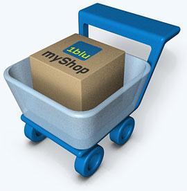 Neu: 1blu-myShop - Fertige, vorinstallierte eShops, sofort online