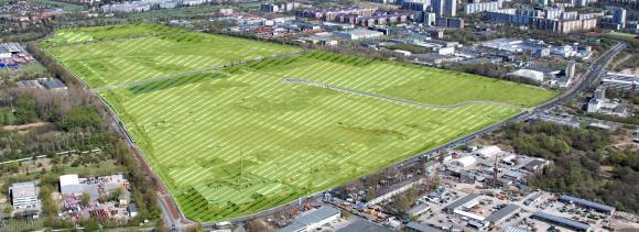 Der neu geschaffene CleanTech Business Park Berlin-Marzahn für die geplante Erweiterung der Swissbit-Entwicklung und -Fertigung / Bildquelle: Bezirksamt Marzahn-Hellersdorf von Berlin