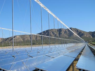 linear Fresnel Solarfeld (Foto:Novatec)