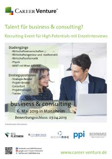 Sie haben Talent im business & consulting?