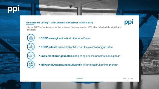 Customer Self-Service Portal by PPI