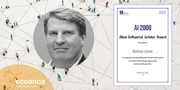 Prof. Dr. Sören Auer, co-founder of eccenca, ranks 4th as Knowledge Engineering Most Influential Scholars