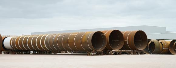 Ein Monopile wiegt 1.000 Tonnen