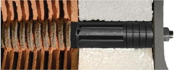 ResiTHERM® distance mounting system for perforated/hollow bricks - Strong, fast and with thermal separation!