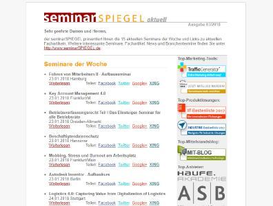 Newsletter SeminarSpiegel