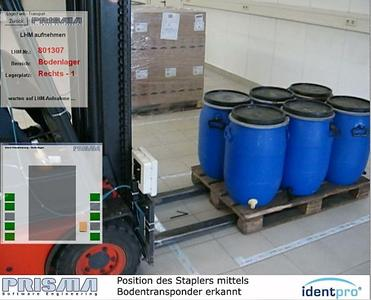 RFID-gestütztes Staplerleitsystem optmiert Lagerverwaltung