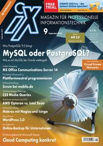 Titelbild der aktuellen iX-Ausgabe 9/2010
