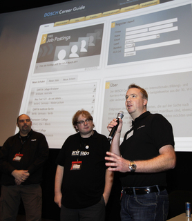 Dirk Beichert, Matthias Lange und Sebastian Dosch (v.l.) bei der Premiere des DOSCH Career Guide, Photo Credit: Christian Schwab