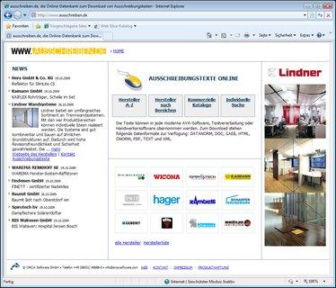 Ausschreibungstexte und Herstellernews online - www.ausschreiben.de