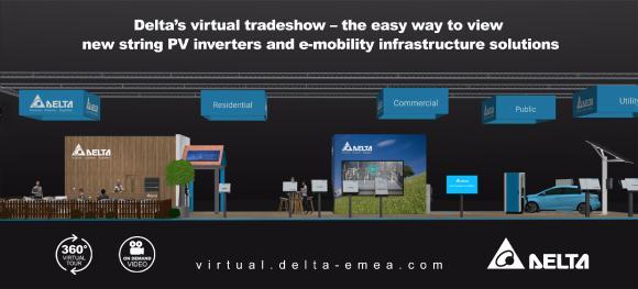 Virtuelle Delta-Messe - Neue String-PV-Wechselrichter, PV-Anlagenmanagement und E-Mobility- Lösungen