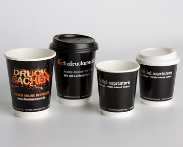Cardboard cups with personalised print