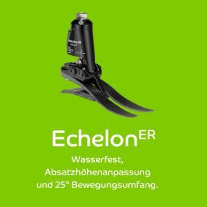 Der neue Knöchelgelenksfuß EchelonER: Wasserfest, Absatzhöhenanpassung und 25° Bewegungsumfang