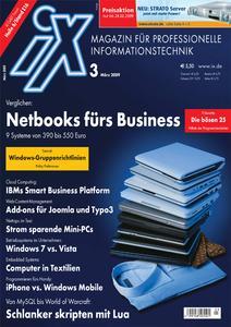 Titelbild der aktuellen iX-Ausgabe 3/2009