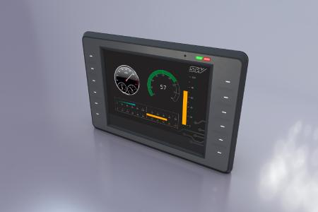 Extendable STW displays for mobile machines