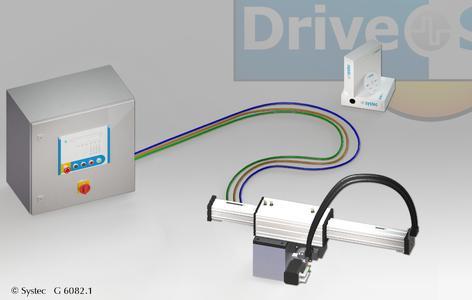 Die einachsige Lineareinheit DriveSet M181 positioniert Lasten bis 40 Kilogramm mit einer Wiederholgenauigkeit von 0,1 Millimeter