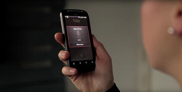 Beispielanwendung auf dem Smartphone