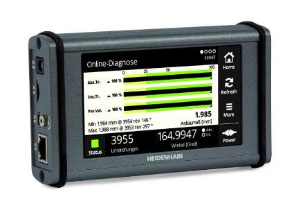 HEIDENHAIN PWT 100: das mobile Testgerät zur Funktionskontrolle und Justage von HEIDENHAIN-Messgeräten vor Ort in der Fertigung