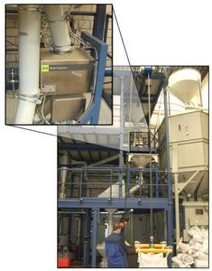 Der Metall-Separator RAPID 4000-FS findet auch in der beengten Raumsituationen des Probat-Technikums Platz.