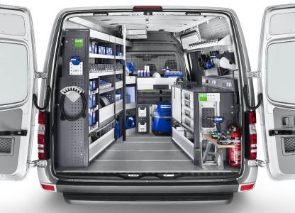 Die robuste und langlebige bott vario Fahrzeugeinrichtung lässt sich flexibel an jedes Gewerk anpassen und für den Einsatz auf der Baustelle ideal konfigurieren