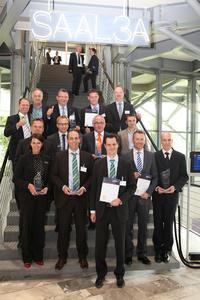 Die Gewinner des Telematik Awards 2012 für den Bereich der Fahrzeug-Telematik. Bild: Telematik-Markt.de