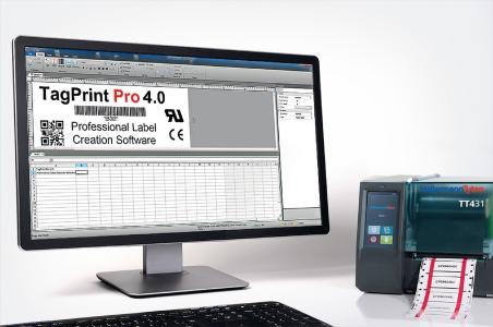 Mit der Etiketten-Software TagPrint Pro 4.0 ist es ein Leichtes, Etiketten, Markierer und Schläuche im Thermotransferdruck zu erstellen.