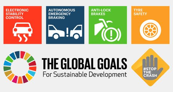 Icons Stop the Crash and Global Goals