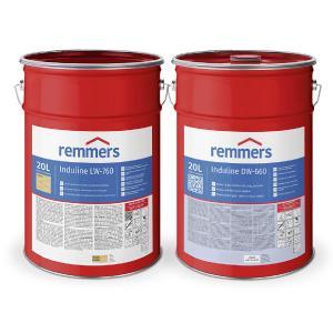 Die Produkte Induline LW-760 und Induline DW-660 sind wasserbasierte Eintopf-Beschichtungssysteme für das VACUMAT®-Verfahren / Bildquelle: Remmers, Löningen