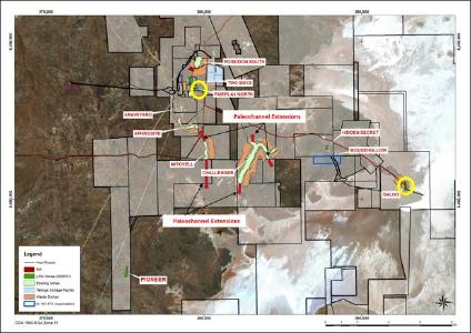 Figure 1: Plan view of HGO highlighting locations of active Baloo and Fairplay North mines