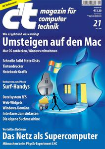 Das Titelbild der aktuellen c't-Ausgabe 21/2008