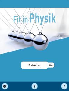 Startscreen Physik
