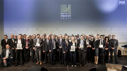 """Die Gewinner des Awards """"Best of Industry"""" 2016: Fachmedium """"MM Machinenmarkt"""" verleiht erstmalig Award für Branchenexzellenz / Foto: Stefan Bausewein"""