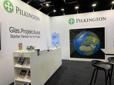 Messestand Pilkington Deutschland AG Exponatec 2019 - 2