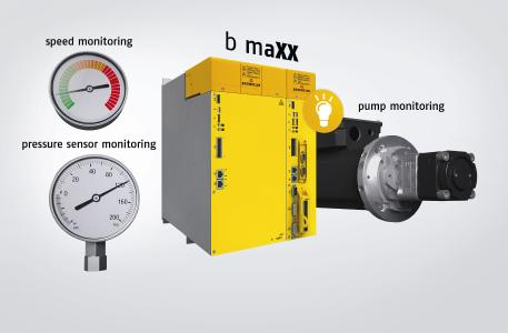 Fig. 1: With new features in the software for V2+ servo pumps, Baumüller enables improved process reliability and process quality through intelligent speed, pressure sensor and pump monitoring