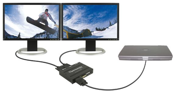 Matrox TripleHead2Go Digital Edition DH mode setup Laptop closed