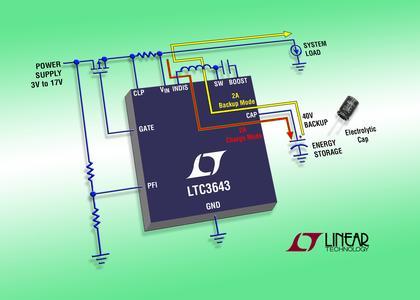 Neues von Arrow: LTC3643 - Bidirektionaler 2A-Abwärts/Aufwärts-Kondensator-Lader