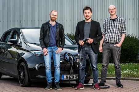 Das ChargeX Gründerteam (v.l.l.n.r.): Michael Masnitza (CBDO), Tobias Wagner (CEO),  Johannes Engeln (CTO)